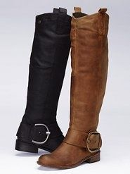 steve madden soft riding boots in brown