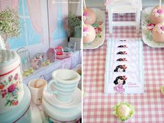 Details for this vintage kitchen themed party