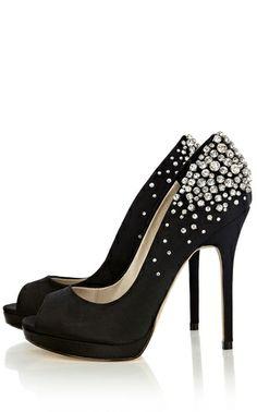 c508a52804ae Encrusted Jewel Peep Toe Heels by Karen Millen
