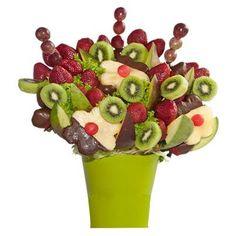 """¿Te gusta? Lo puedes pedir como """"Kiwi Tropical"""" tiene variadas frutas como: Fresas, jugosas Uvas, Mango, flores de piña con centros de sandia en combinación con deliciosas rodajas de refrescante Kiwi."""