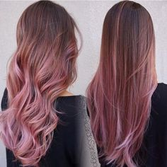 Chocolate mauve looks beautiful curly or straight!