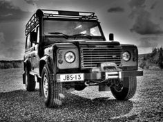 Land Rover Defender Like roof rack and winch without A-frame