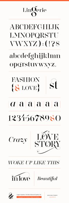Lingerie Typeface by Moshik Nadav Typography: The Most Advanced Typeface Yet.Designed For Fashion. Made To Seduce. Get it now on: http://www.moshik.net/buy/lingerie-typeface-style-fashion-font-moshik-nadav-typography-nyc #font