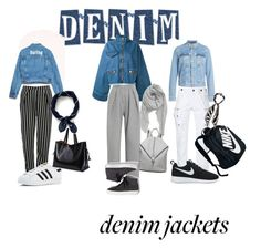 """Denim Jacket"" by michele-nyc ❤ liked on Polyvore featuring Marques'Almeida, Acne Studios, PRPS, Vika Gazinskaya, Glamorous, NIKE, adidas, Keds, BP. and J.Crew"