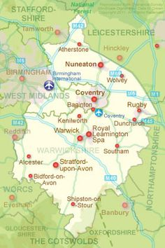 Warwickshire includes the cities of Rugby, Coventry Birmingham, Coventry England, Coventry Cathedral, Stratford Upon Avon, Tourist Information, English Countryside, Work Travel, British Isles, Family History