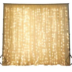 efavormart offers unique Party Decorations and Wedding Supplies at wholesale rates. Light your Party Ambiance up with our Warm White LED lit Organza Curtain Backdrop.