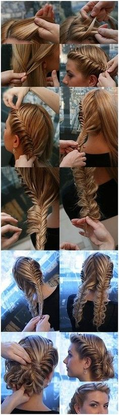 Fishtail braid updo homecoming hairstyle  - 7 Braided Hairstyles Perfect For Homecoming