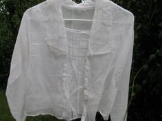 Vintage Texana Early 1900's Woman's White Linen by TheIDconnection, $75.00    Estate Sale treasure  Was aquired from Lenora Dorean estate on 23rd Street on Galveston Island...early 1900's Pre World War I Woman's fashions    Pre 1914 Ladies garment    White Line Blouse - hand made - unique Texana relic    Vintage Texana Early 1900's Woman's White Linen Lace Blouse, Southern Belle Shell Buttons, retro handmade fashion design style Galveston