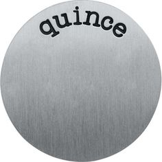 Large Silver Quince Plate  - #locketandcharms.com by #locketsncharms Jennylou Raya #origamiowl #1186  #espanol #charms #silver #handstamped #plate