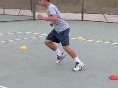 ▶ Tennis Cone Drills - Develop Powerfull Crossover Steps and Stopping - YouTube