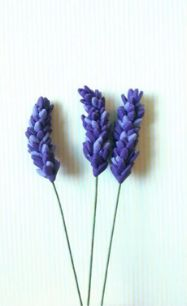 A Glug of Oil: How to Make Lavender with Flower Paste