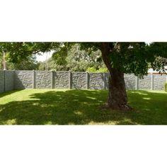 w ecostone gray composite fence panel