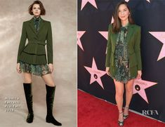 Olivia Munn In Alberta Ferretti – Eva Longoria's Star On The Hollywood Walk Of Fame Unveiling