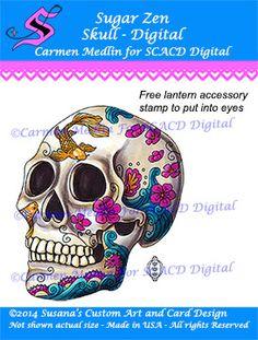Sugar Zen Skull Digital