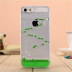 "T-Skin iphone 6 4.7"" Creative Water Droplets Design Flowing Liquid Swimming Magic Maze Transparent Plastic Hard Case for Apple iPhone 6 4.7 inch Released on 2014 + 1pcs Wristband (Green) T-Skin http://www.amazon.com/dp/B00SE2B59G/ref=cm_sw_r_pi_dp_SFJpvb1X3CSXP"