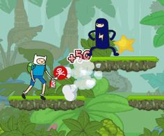 Adventure Time is lost in the jungle and there are a lot of demons. Help Adventure to kill these demons, collect all the items to get out of the forest.