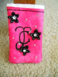 Side one of the ipod sleeve I've made for a cousin of mine