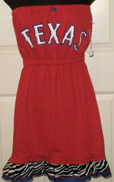 Love this Texas Rangers t-shirt dress!