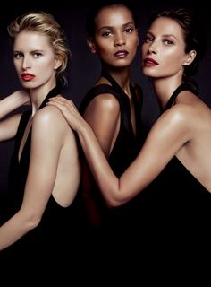 Christy Turlington, Karolina Kurkova and Liya Kebede by Inez van Lamsweerde and Vinoodh Matadin for Donna Karan Woman