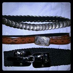 *** Bundle***   3. Belts 3 Belts , one leather, two elastics... Accessories Belts
