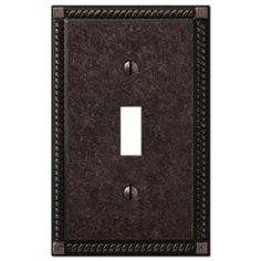 Amerelle Ribbon and Reed 1 Toggle Wall Plate - Aged Bronze-44TVB - The Home Depot