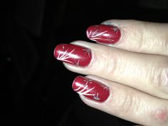 Canada day nail. Ready for fireworks.