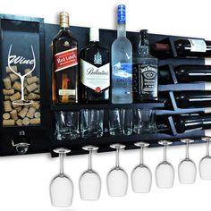 Barra Bar, Wood Wine Racks, Wall Bar, Bar Lounge, Garden Seating, Home Interior Design, Home Decor, Tattoos, Sweet