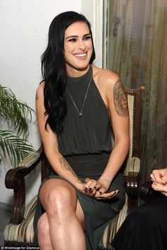 Rumer Willis displays amazing figure in thigh-high split dress #dailymail