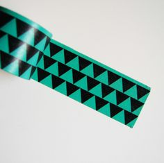 Paper Tape   Teal/Black Triangles via Freckled Fawn