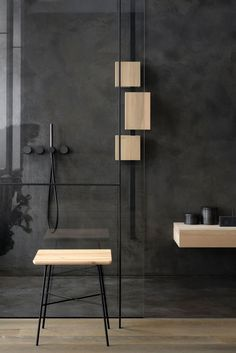 Authentic, contemporary and timeless solid wood furniture by Ethnicraft. Shop the collection on Rouse Home. Contemporary Interior Design, Bathroom Interior Design, Decor Interior Design, Contemporary Furniture, Interior Decorating, Decorating Blogs, Retro Bathrooms, Modern Bathroom, Bad Inspiration