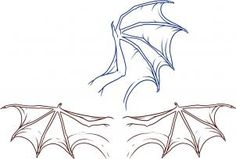 How to Draw Dragon Wings, Step by Step, Dragons, Draw a Dragon, Fantasy, FREE…