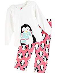 Girls 4T Carter/'s Long Sleeve Penguin Top Tee NWT