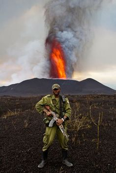 The Nyamulagira volcano is Africa's most active, rocketing out a 65-story-tall lava plume in the Democratic Republic of Congo