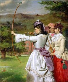 The Fair Toxophilites (1872) - William Powell Frith.