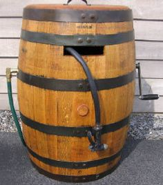 This is great for the yard, or ranch.  200 ' of hose is a bit of a pain, but it will hold it.  Reel Barrels - Used whiskey barrels, if you need a whiskey barrel for your garden or patio please visit Reel Barrels today!