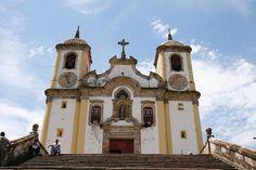 Santa Efigênia Church was inaugurated in 1790. Ouro Preto, Minas Gerais, #Brazil