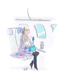 illustration magalie F avion.jpg - Magalie F | Virginie