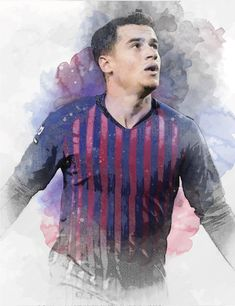 61 x Winger Philippe Coutinho on Museum-quality poster with vivid print made on thick and durable Football Wallpaper, Fc Barcelona, Messi, Men Sweater, Brazil, Poster, Art Print, Digital, Women
