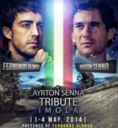 "1-4 May 2014 . Imola. ""Ayrton Senna Tribute 1994/2014"" Presence of Fernando Alonso &Kimi Raikkonen"