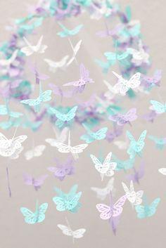 Butterfly Mobile Lavender Tropical Blue & by LoveBugLullabies