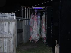Hung bodies walk thru...this was the first thing to EVER creep me out at a haunted house