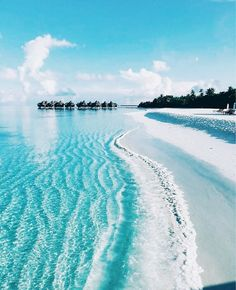 Perfect island beach vacation spot with white sand. Wanderlust travel bucket list of places to see and visit on a vacation trip. Oh The Places You'll Go, Places To Travel, Places To Visit, Travel Destinations, Dream Vacations, Vacation Spots, Romantic Vacations, Beautiful Beaches, Beautiful Ocean