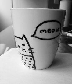 Sharpies kitty mug!