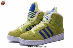 New Adidas X Jeremy Scott Big Tongue Anti Fur Winter Shoes Yellow
