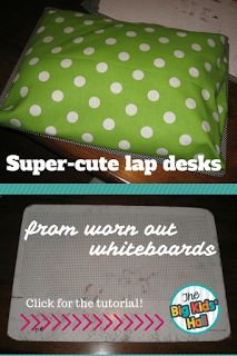 Got beat up old whiteboards? Turn them into lapboards for your classroom! It's an (almost) free upcycle your kids will love!