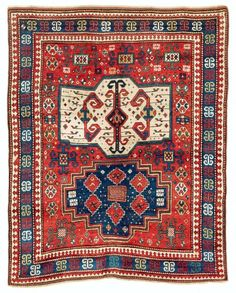 Kazak, South West Caucasus. 205 x 160 cm, second half 19th century. Rippon Boswell Collector Carpets 25 May 2013.