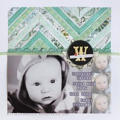Nicole Samuels #SCBoardwalk ~ Love the chevron stripes at the top...great way to use up some scraps!