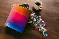 Containing exactly 1,000 colors, which have been cut into a one-thousand piece CMYK gamut, this intuitive yet challenging puzzle is designed by Clemens Habicht.