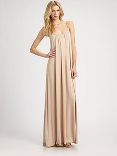 I love this Rachel Pally - Pleated Scoopback Jersey Maxi Dress. To bad it's sold out!