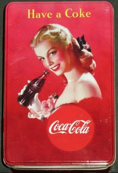 Coca Cola Bewaarblik - Drink coca Cola in bottles  (2013).  Op voorraad - € 4,95